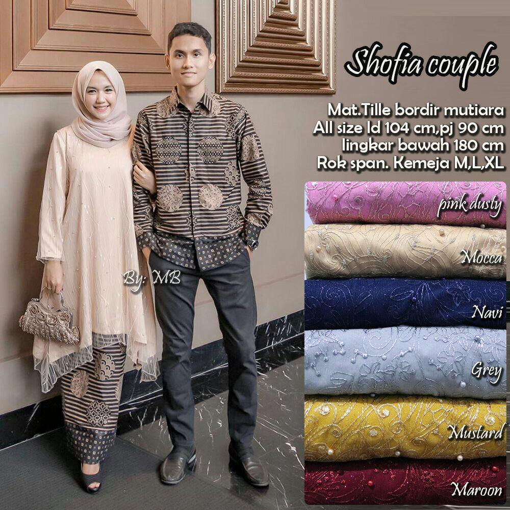 Likin TERMAHAL – Kebaya Couple Modern - Couple Batik – Batik Sarimbit - Baju Wanita Terbaru - Batik Kondangan - Baju Batik Couple Shofia