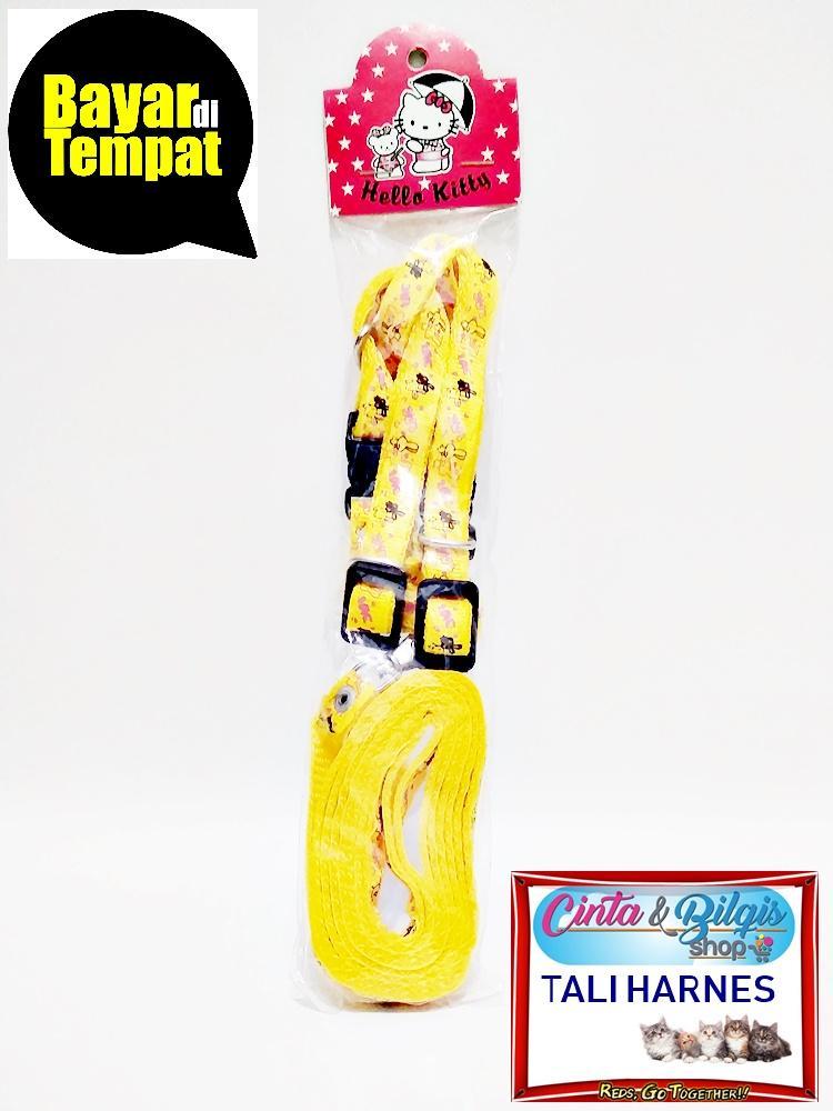 Tali Harnes Tuntun Kucing Anjing Hewan Motif - Warna Kuning By Cinta & Bilqis Shop.