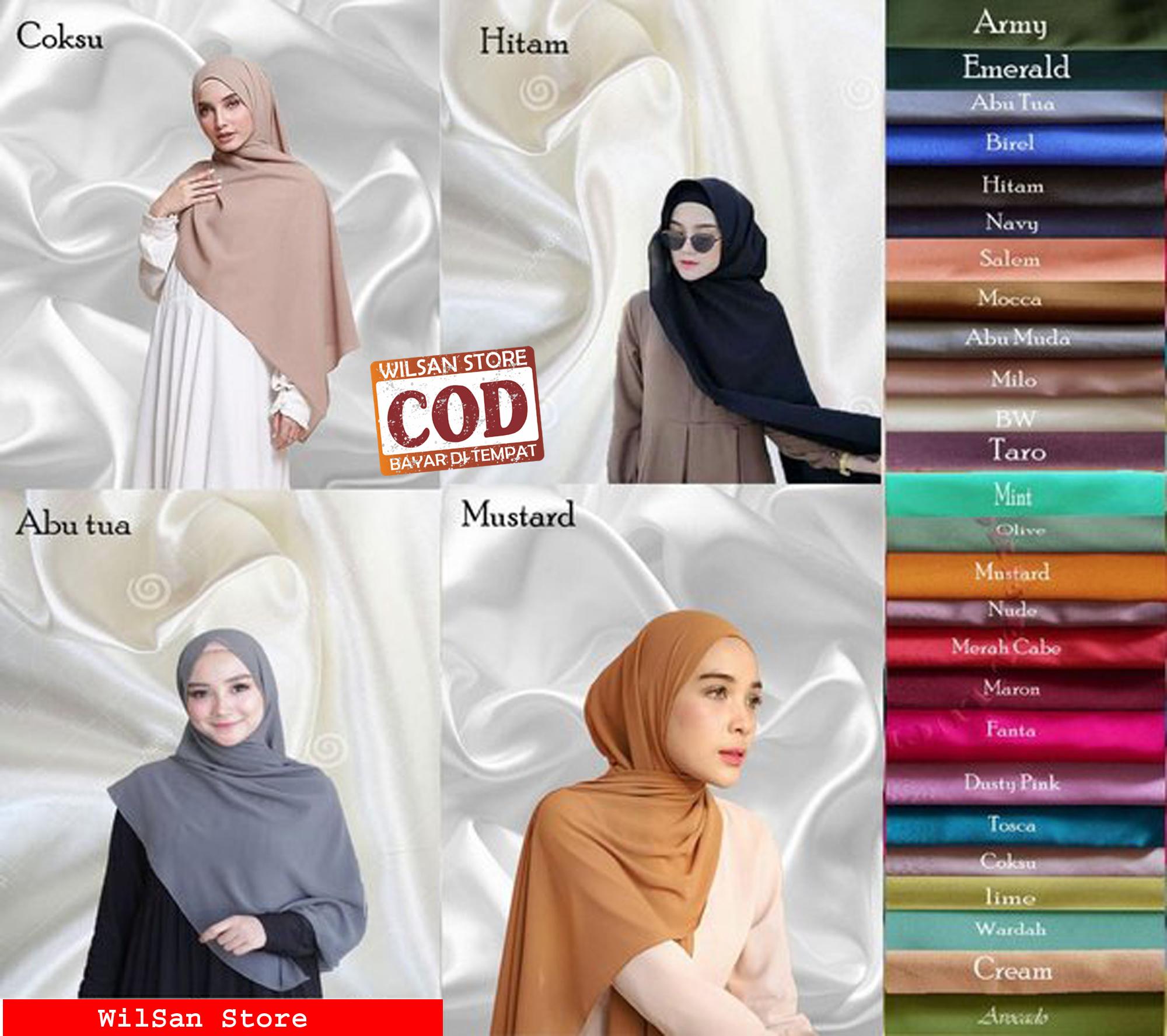 WS_Hijab/Jilbab/Kerudung PASHMINA Diamond Crepe / Diamond Italiano Terbaru  12 Murah Warna Terlengkap