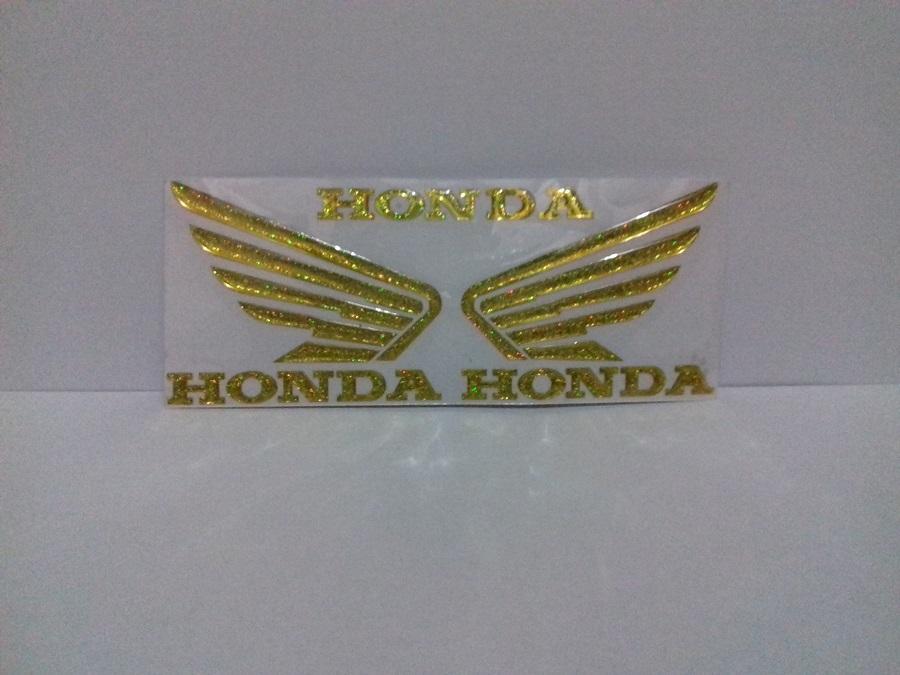 Stiker Timbul sayap Honda Gold Sepasang