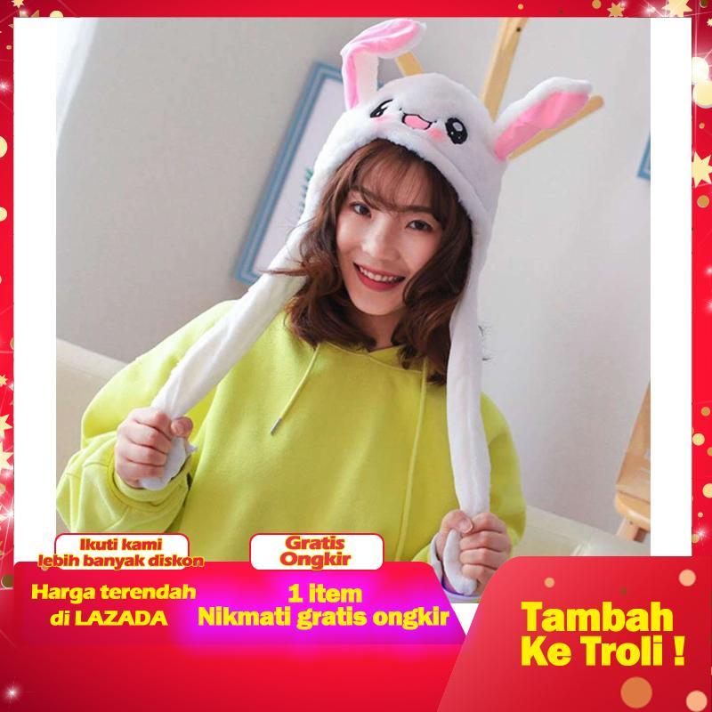 [hot Sale]palight Lucu Telinga Hingga Down Rabbit Topi Lucu Kelinci Airbag Mewah Playtoy Hadiah Mainan Untuk Anak-Anak Gadis Pacar By Byt.