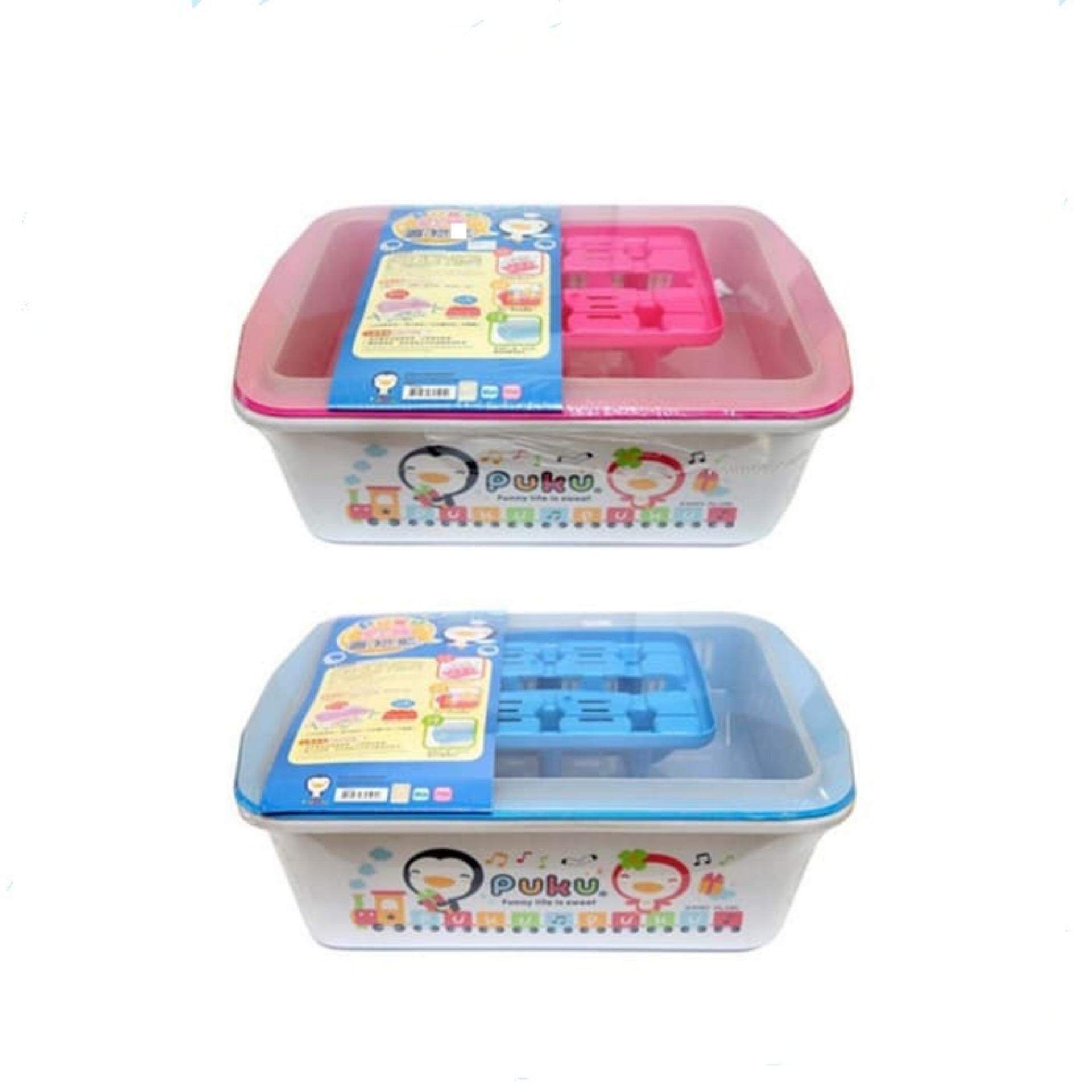Puku Nursery 30505 / Tempat Menyimpan Botol Gelas Piring Bayi By Enportu Mom N Baby.