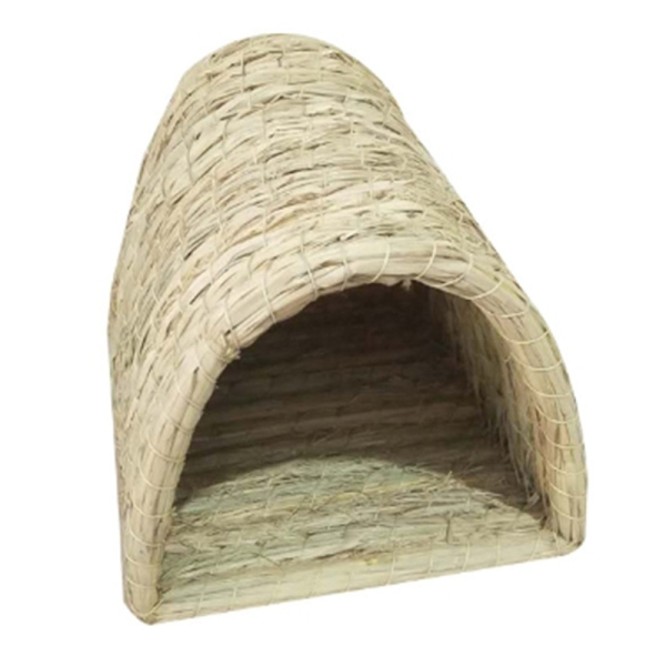 Handwoven Straw Pet Nest Foldable Durable Hamster Playing Sleeping Nest for Rabbit Guinea Pig House Nest Pet Supplies
