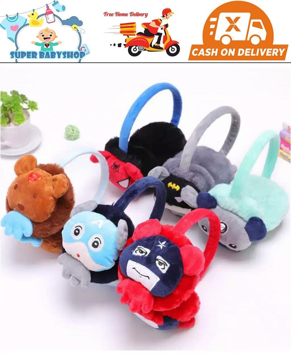 Earmuff Bayi Superhero 3d/penutup Telinga Bayi Atau Anak/earmuff Bayi Import By Super Babyshop.