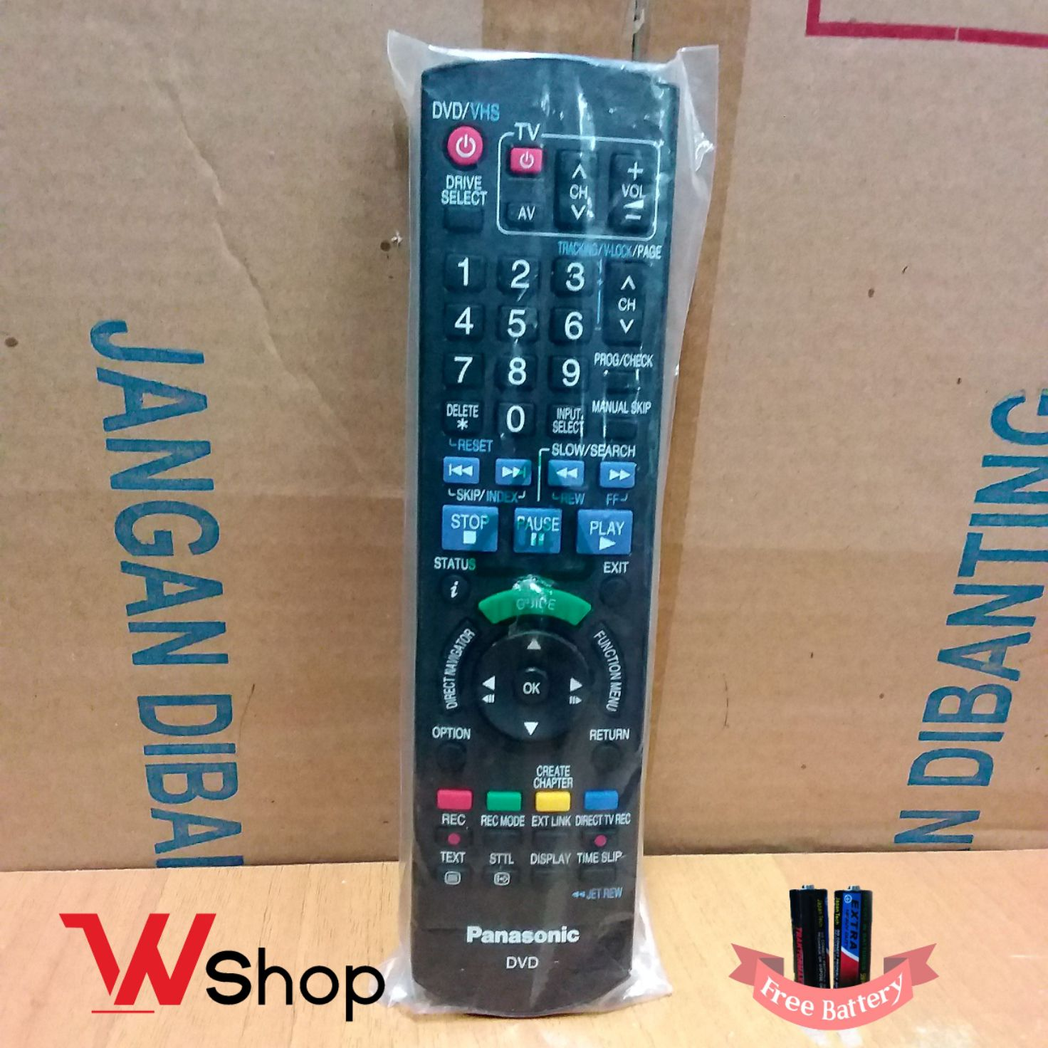 REMOTE/REMOT PANASONIC DMR DVD RECORDER/VCR/TV ORIGINAL