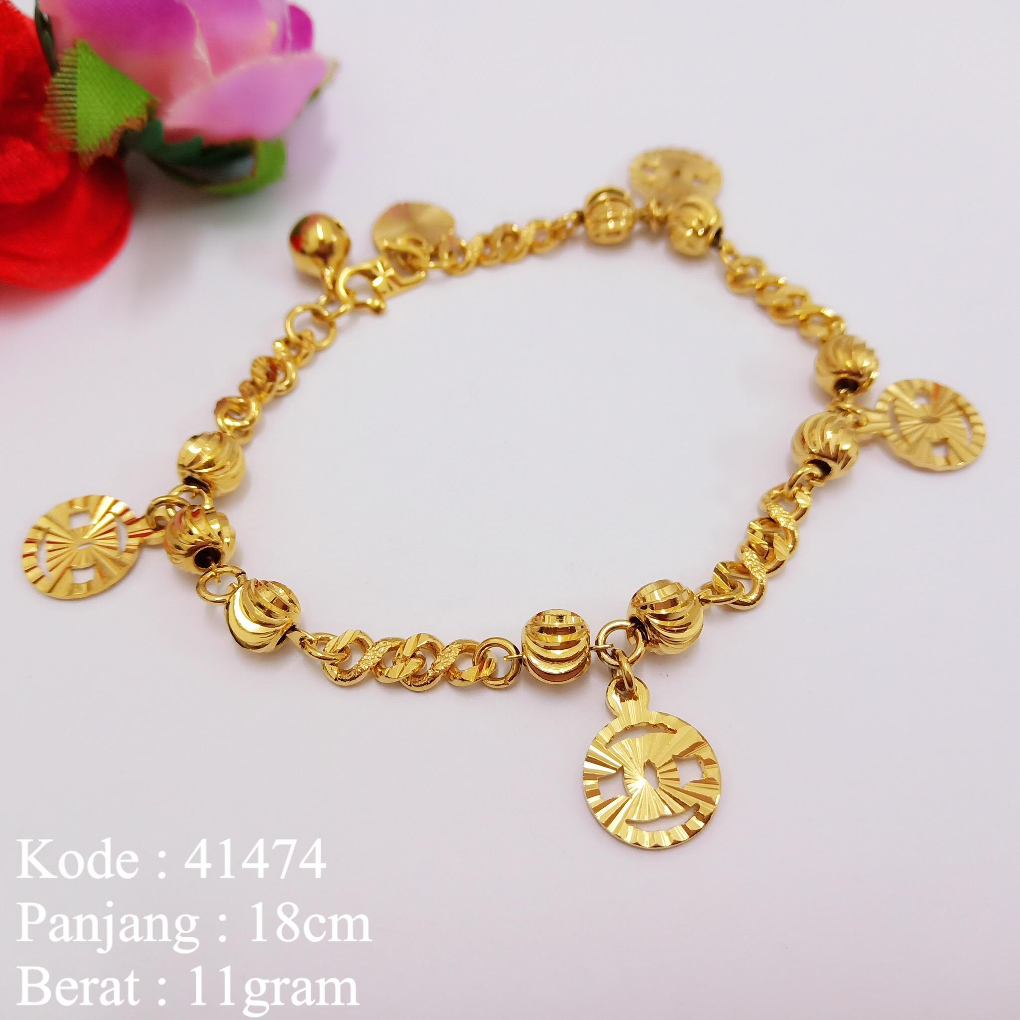 Gelang Tangan Rantai Lapis Emas Missi Fashion Jewelry