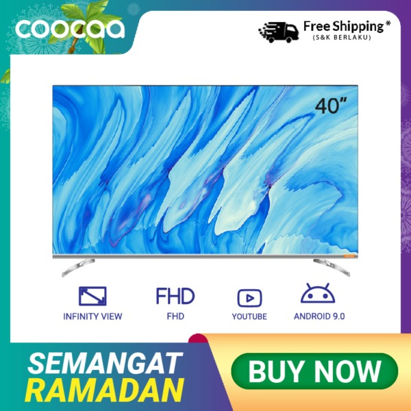 COOCAA 40 inch Android 9.0 Smart LED TV -Infinity View- Full HD- Netflix-Youtube-Slim- Wifi (Model 40S6G)