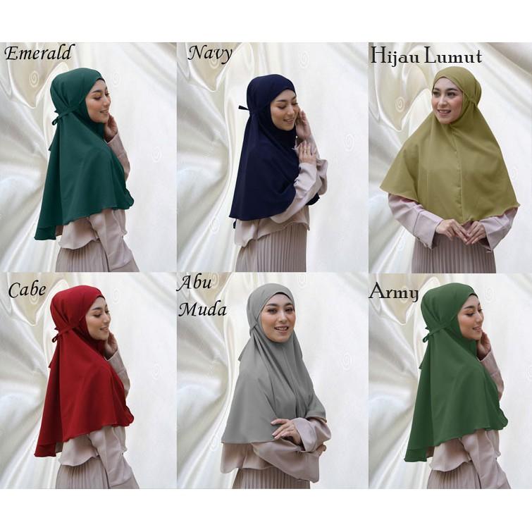 Jilbab Bergo Maryam Diamond Italiano Khimar Non Pet Hijab Kerudung Maryam Lazada Indonesia