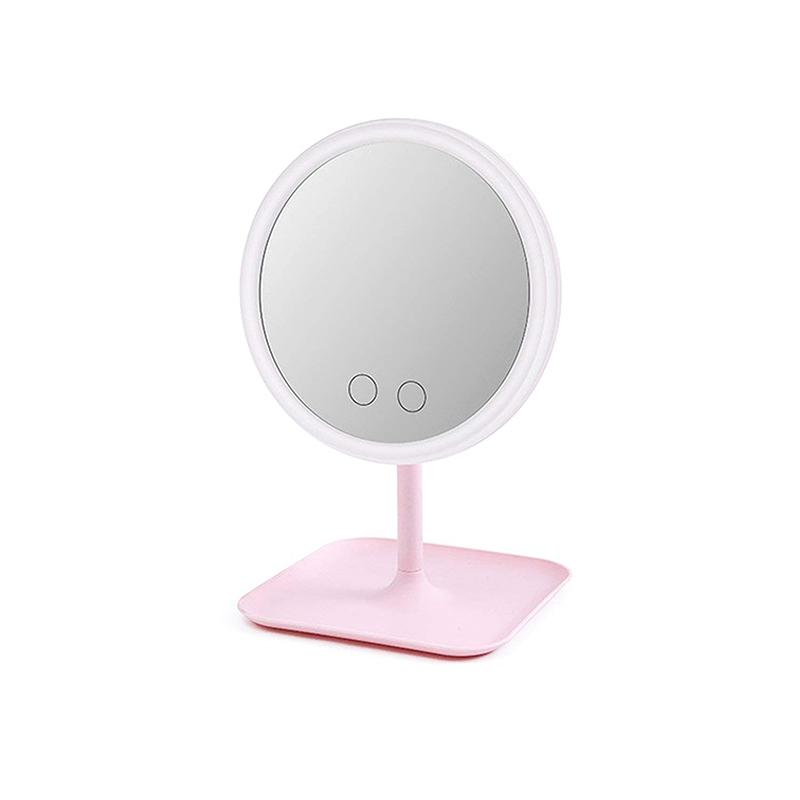 Led Lights Cosmetic Mirrors Mirror, Led Makeup Mirror Desktop