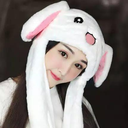 Ss Gallery - Topi Kelinci Lucu Murah Import Rabbit Hat Dance Telinga Bergerak By Ss Gallery.