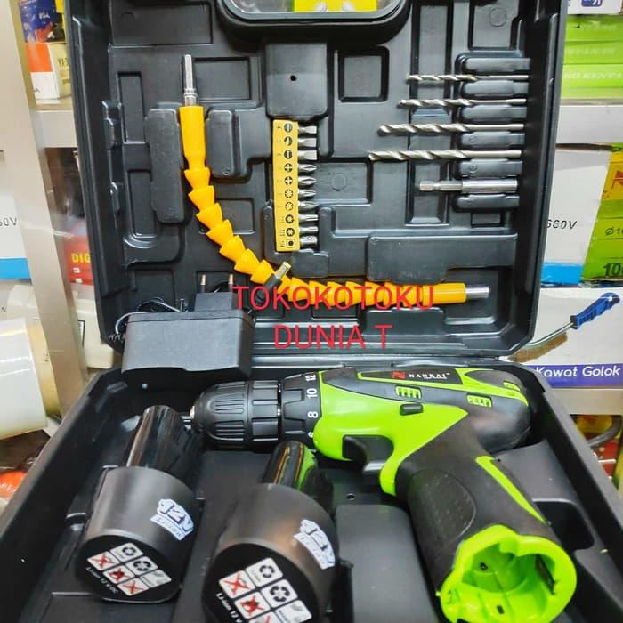 [ GARANSI 100 % ] Mesin Bor Baterai Cordless Drill Nankai 12V @ mesin bor bosch / mesin bordir / mesin bor makita / mesin bor ryu / bor listrik / bor tangan / bor mini / bor baterai / bor cordless / bor cas / bor listrik bosch