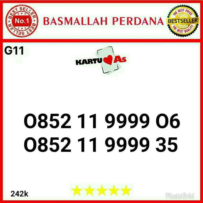 Nomor Cantik As seri kwartet 9999 0852 119999 05 G011 213