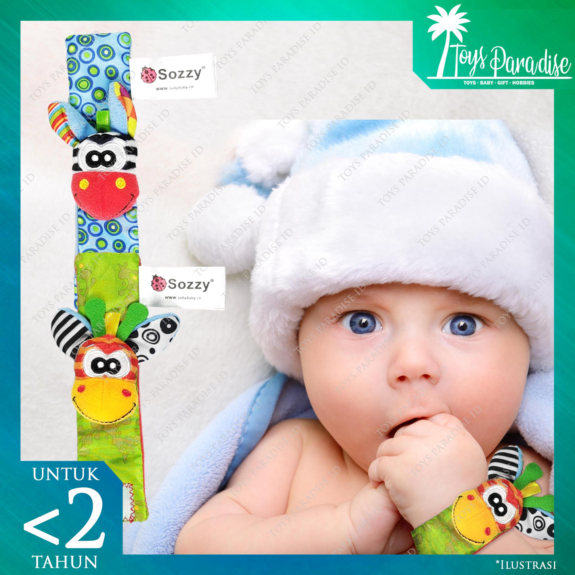 Rattle Gelang Tangan Kaki Bayi Sozzy Lucu Bentuk Hewan Mainan - Jerapah