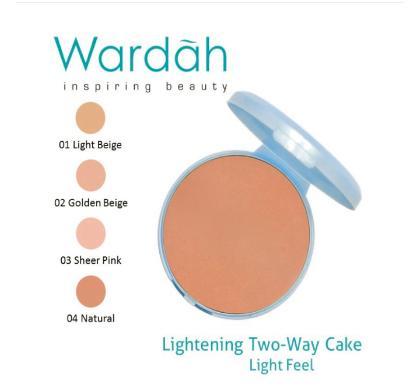 Bedak padat wajah refill lightening Two way cake 01 Light Beige 12gram / Bedak padat untuk wajah berminyak / Bedak padat untuk kulit kering / Bedak padat yang berkwalitas
