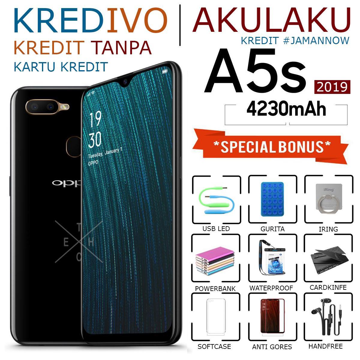 OPPO A5S 2019 - 2GB/32GB - 4G LTE - GARANSI RESMI - BLACK