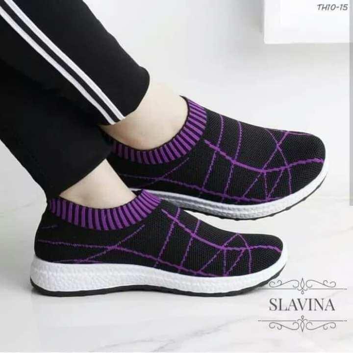 Grosir Termurah - Sepatu Sneakers Wanita Slip On Slavina