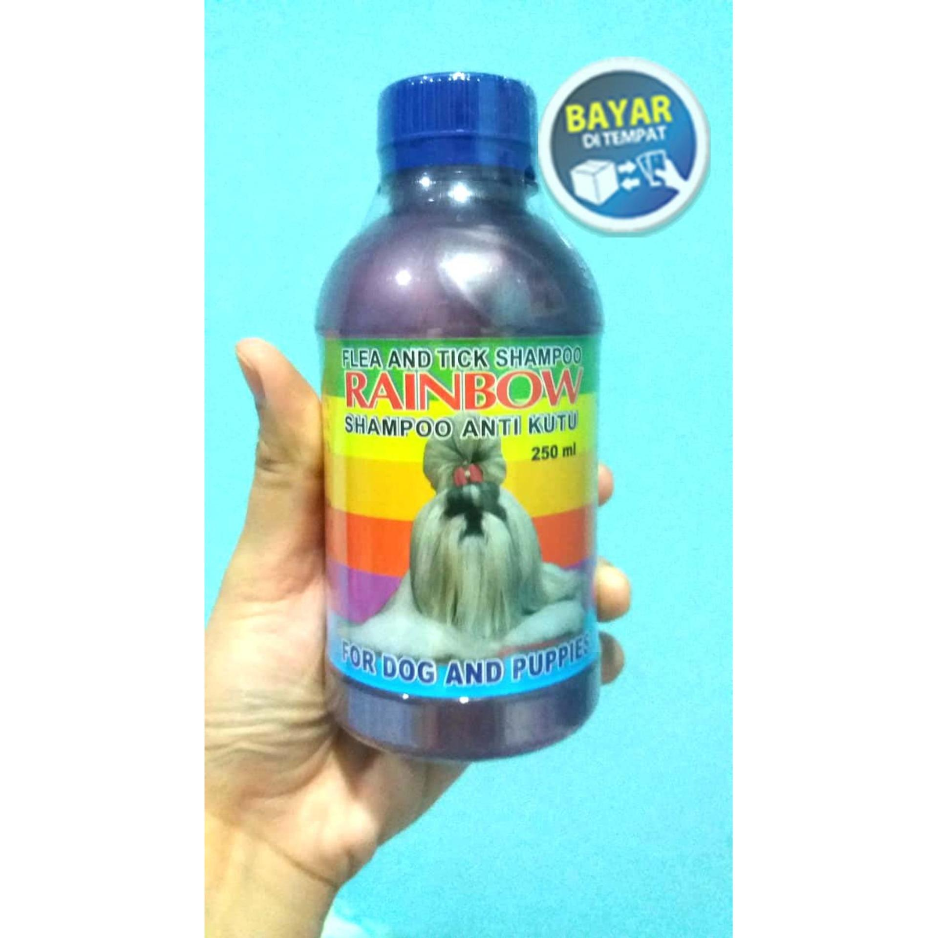 Shampoo Anti Kutu Anjing & Flea Rainbow Ukuran 250ml Unggu By Banyu Shop.