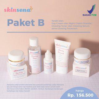 (Free Tas Makeup) Skinsena Paket B Lengkap BPOM Original Skincare thumbnail