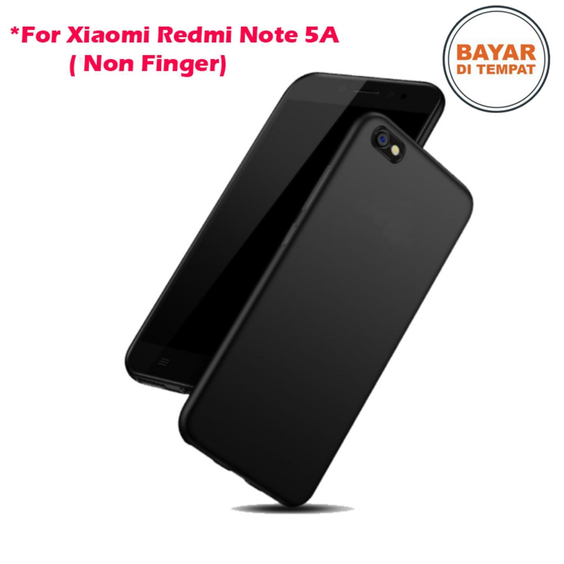Case Anti Shock Xiaomi Redmi Note 5A Ultrathin Anti Crack Elegant Softcase Anti Jamur Air Case 0.3mm / Silicone Xiaomi Redmi Note 5A / Note 5 A / Soft Case / Silikon Anti Crack / Case Hp - Slim Black Matte