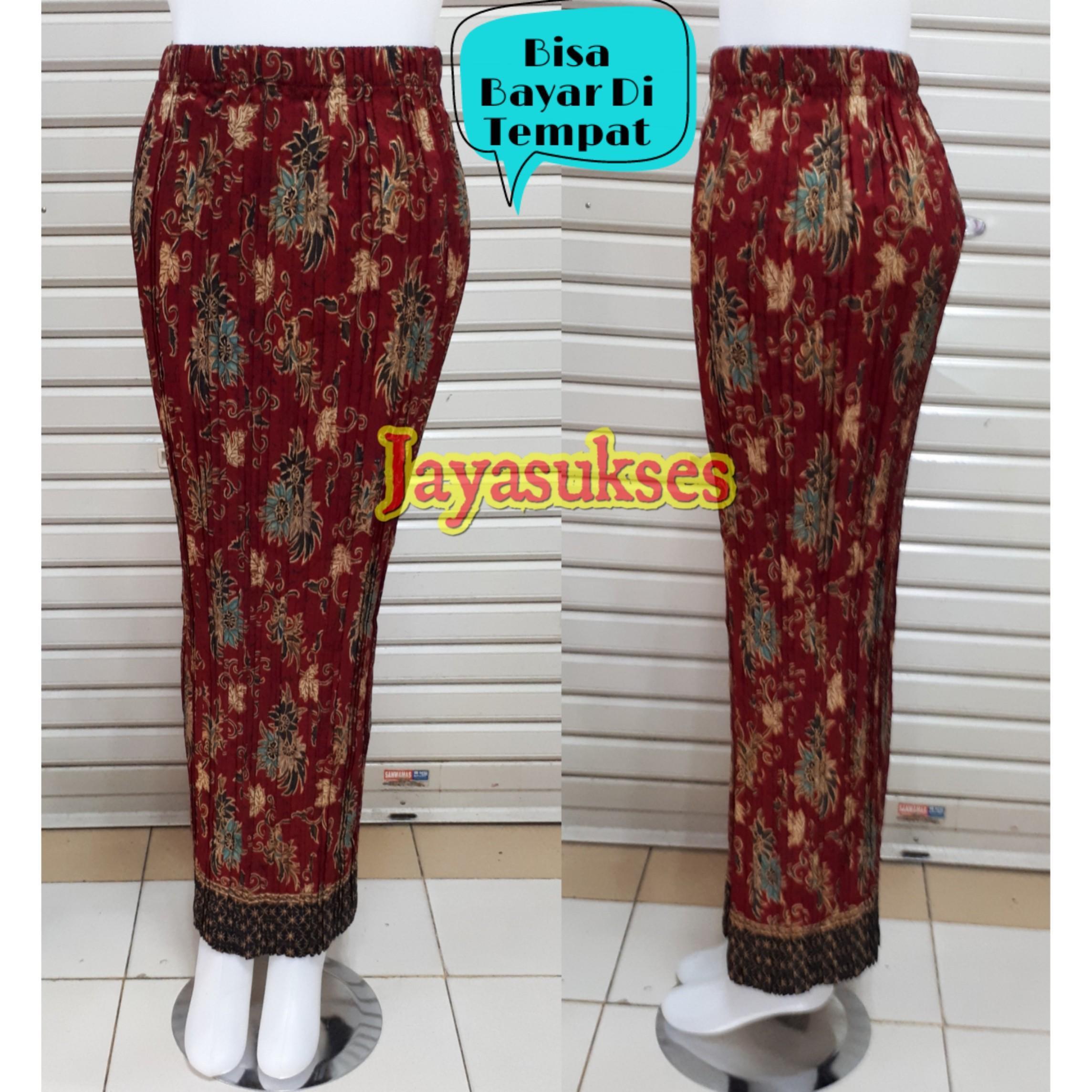 Rok Pesta Span Batik Wanita Jumbo Long Skir / Rok Pesta Murah / Rok Prisket - Jayasukses