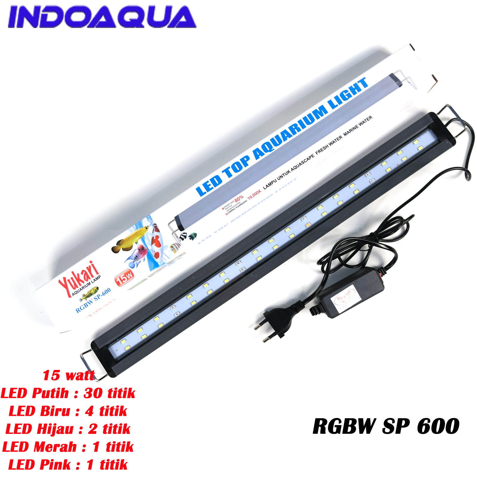 INDOAQUA - Lampu LED Aquascape RGBW Lampu Aquarium RGBW For Tank 50 60 cm