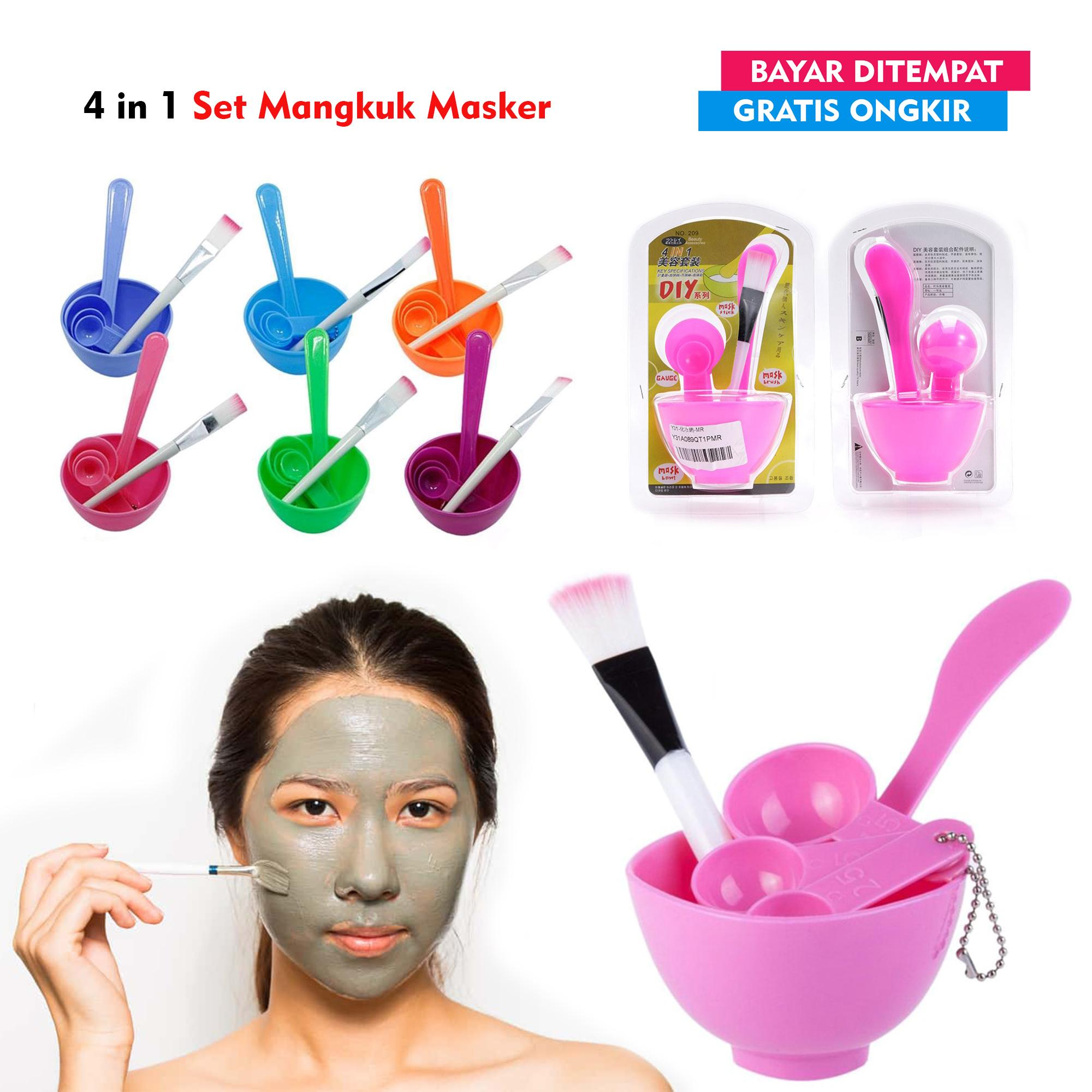 Rainbow Mangkok Masker SET 4 in 1 / Kuas Masker/ Mangkuk Masker Wajah / Tempat Masker / Kuas dan Mangkuk Masker - Random - Alibabeh | Lazada Indonesia