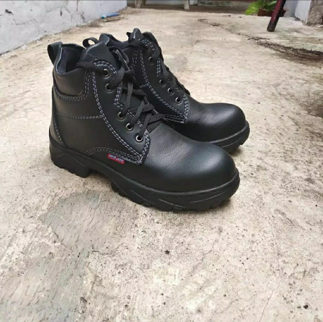 Sepatu Safety SHOES SAFETI SAVETI SEPTI SAFETY Semi Boot GREGOR JOGAR KING CHATAH KRUSHOR BERKUALITAS