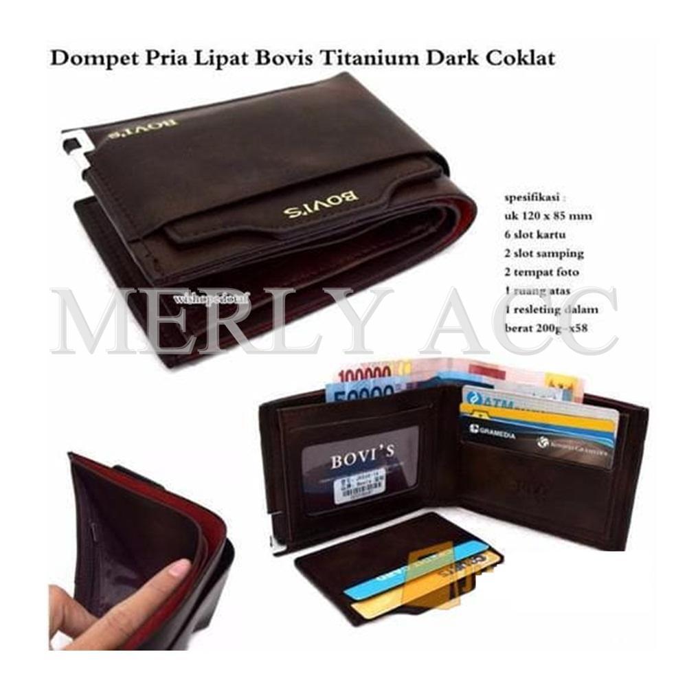 Dompet Pria Bovis & Co Pu-Premium J09 ( Random Merek ) / Dompet Murah / Dompet Import - Cokelat By Merly_acc.