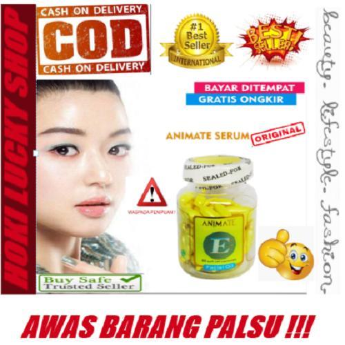 LUCKY COD - ANIMATE -Serum Gold - Vitamin Wajah - Serum Wajah - 60 Softgels -  Garansi Orginal atau Uang Kembali