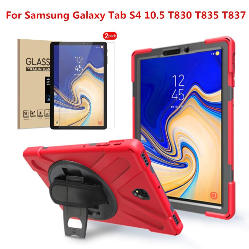 Free Ongkir  For Samsung Galaxy Tab S4 105 2018 T830 T835 Case with 360 Degree KickstandHand