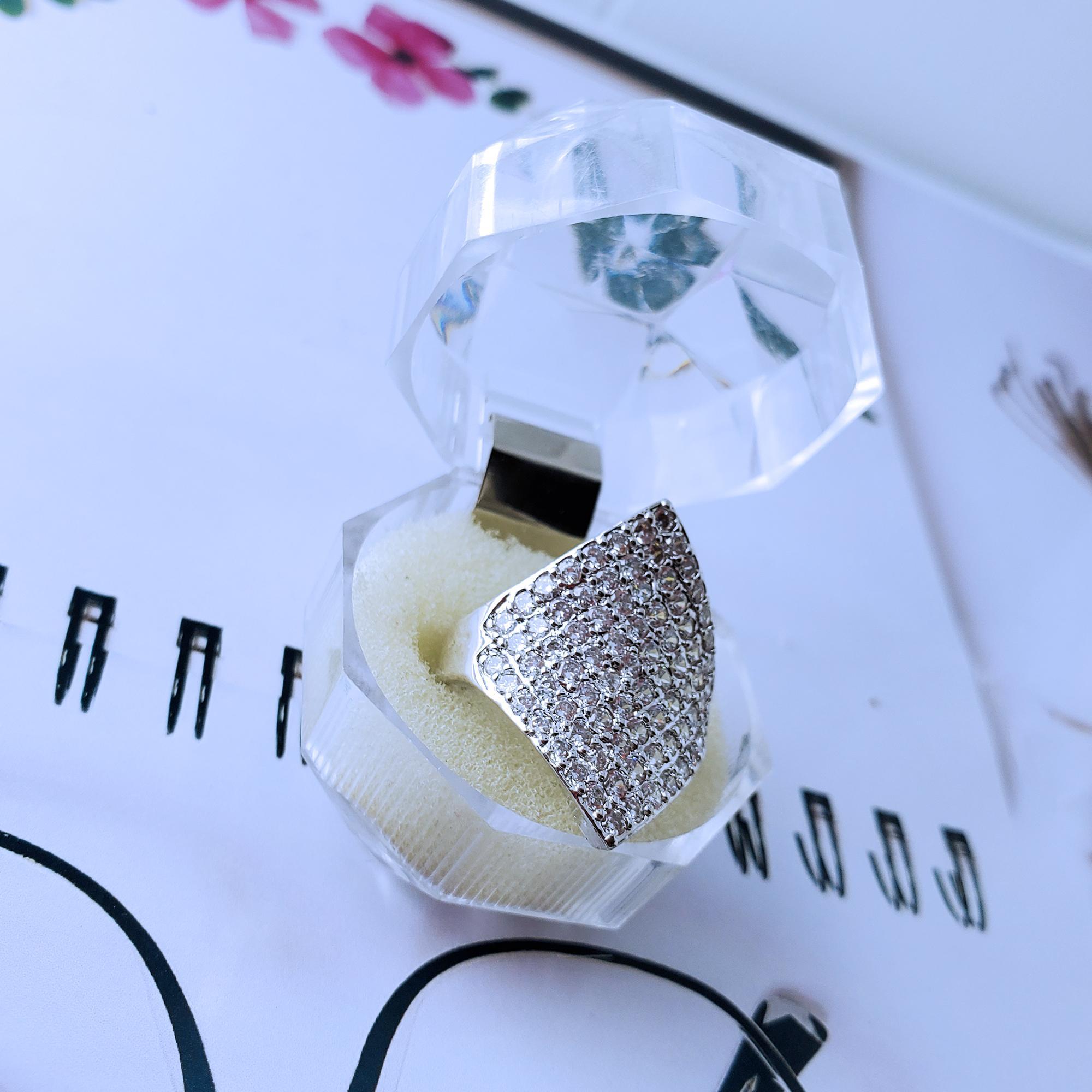 Cincin Cantik Xuping Perhiasan Wanita Permata Cantik - Silver 709