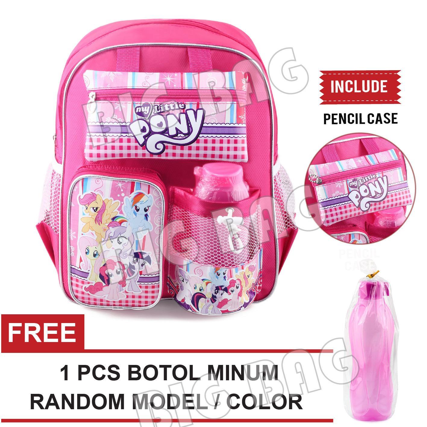 Tas Ransel Anak Perempuan Karakter - My Little Pony - STAY + FREE Botol  Minum- 0e6f8305fd