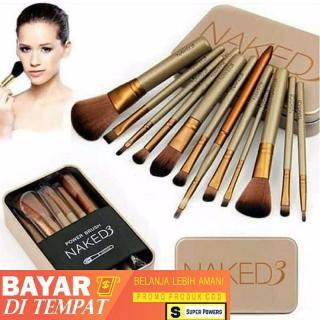 Kuas Makeup Naked 3 ( Isi 12Pcs ) Makeup Brush Naked 12 In 1 Set Kuas Naked3 Super Powers thumbnail