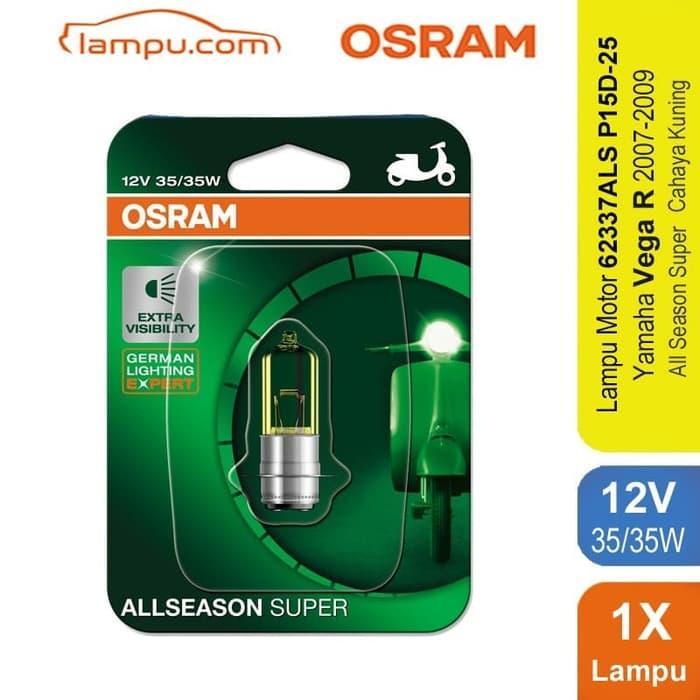 TERLARIS!!! Osram Lampu Depan Motor Yamaha Vega R 2007-2009 - 62337ALS SEDIA JUGA Lampu tumblr - Lampu led - Lampu sepeda - Lampu hias