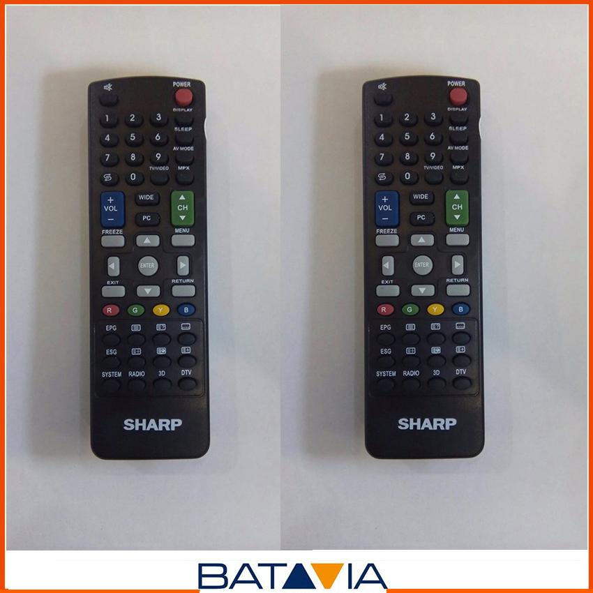 Sharp Remote Control Untuk TVLCD/LED Warna Hitam