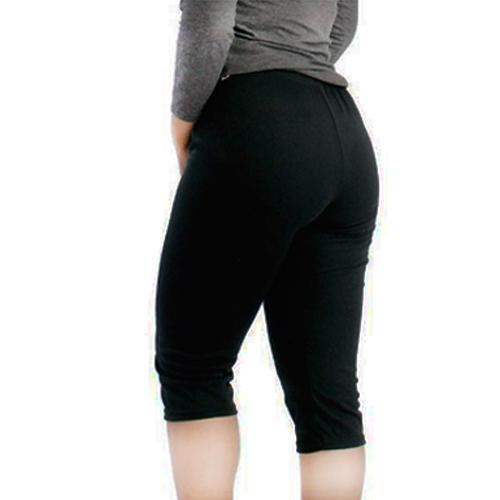 Celana Legging Wanita 3 4 Hitam Polos Satbe Store Lazada Indonesia