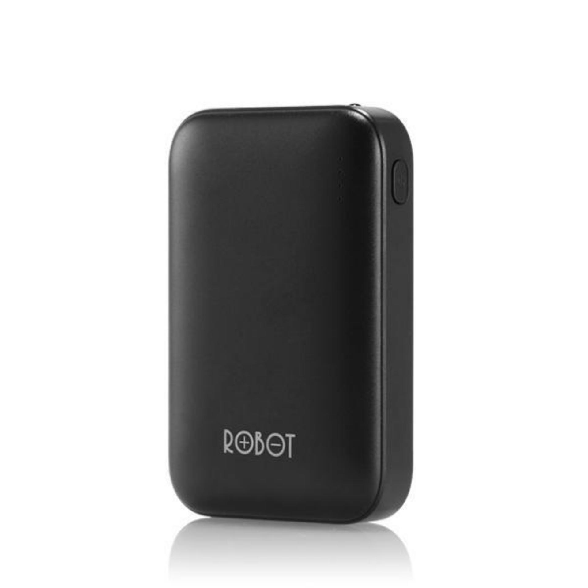 Vivan Robot RT7200 6600mAh 2 USB Ports Power Bank Black Bergaransi Resmi 1Tahun