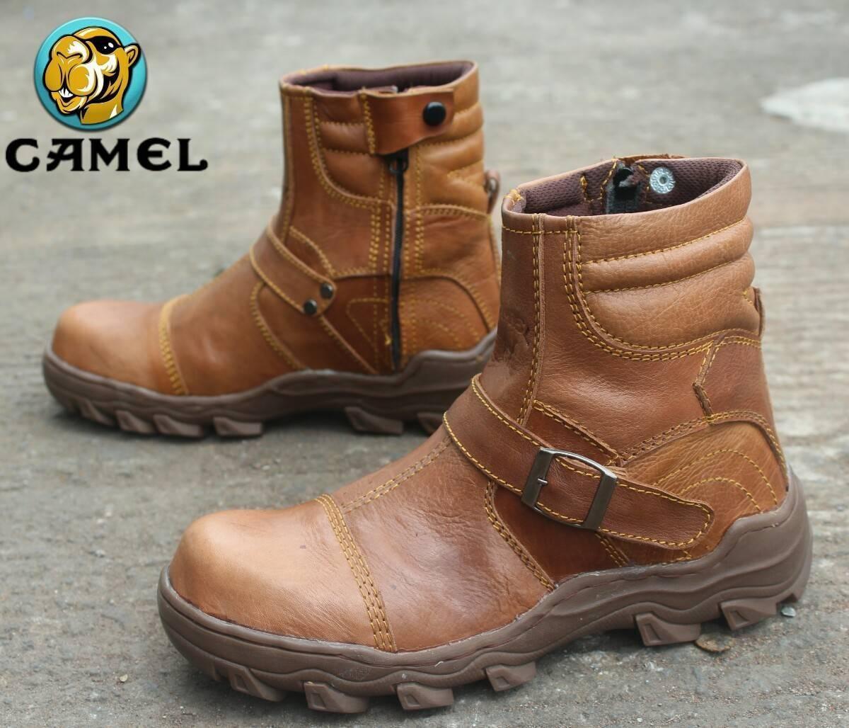 Sepatu Pria Delta Boots Camel Safety (ujung besi) ASLI kulit (Sepatu Hiking   8ed38a66fe