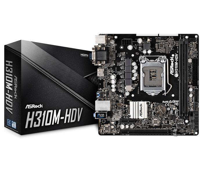 ASRock H310M-HDV/M.2 (LGA1151, H310, DDR4, USB3.1, SATA3)