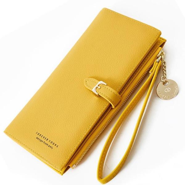Weichen Wristband Women Long Wallet Many Departments Female Wallets Clutch Lady Purse Zipper Phone Pocket Card Holder Ladies Carteras