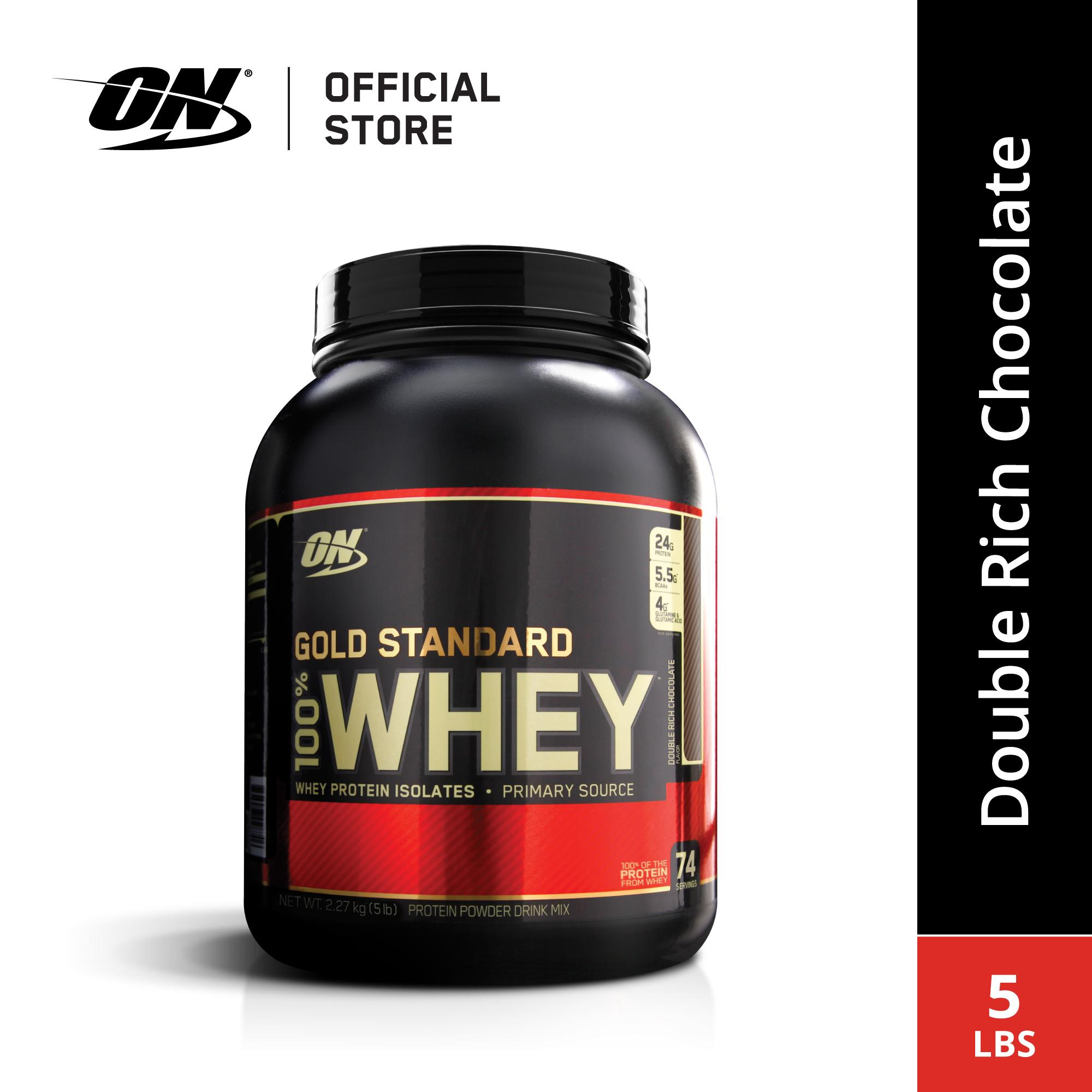 Optimum Nutrition Whey Gold Standard 5 Lbs - Double Rich Chocolate By Sport N Body Fit.