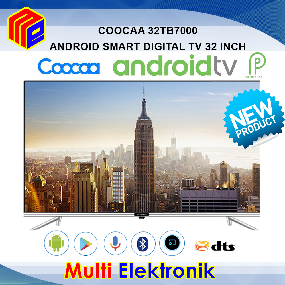 Coocaa 32 inch Android TV / AI TV / Smart TV / Digital TV - 32TB7000