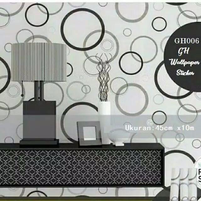 Walpaper Dinding Motif Polkadot Gh006 By Syafiqcollection.