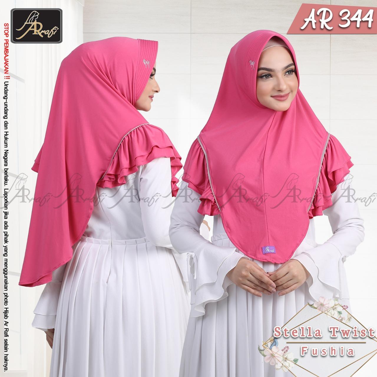 Hijab Arrafi Kode AR 344 - Jilbab Bergo Instan Syari