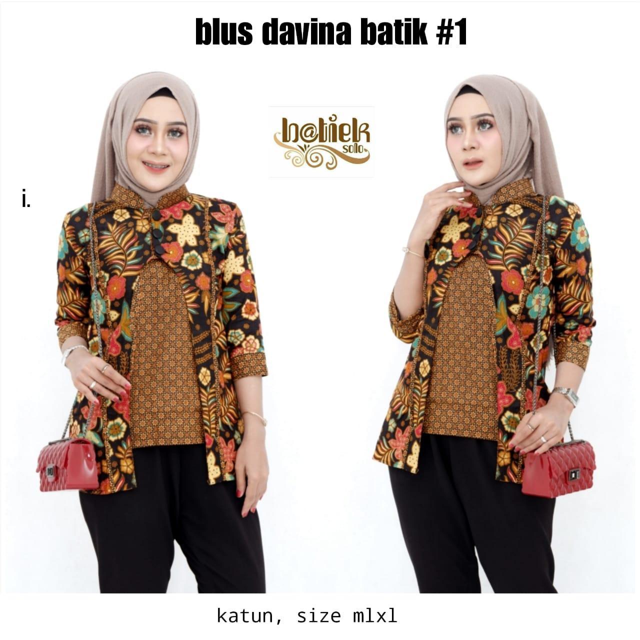 Blus Davina Batik 1 Katun Model Baju Batik Kantor Wanita Berjilbab Cardigan Batik Model Batik Wanita 2019 Model Baju Batik Wanita 2019 Model Baju Tunik Batik Baju Tunik Batik Model Baju Batik