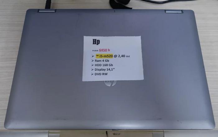 HP Pro Book 6450BGen1 Core i5 4GB 160GB 14inch Laptop Notebook Bekas