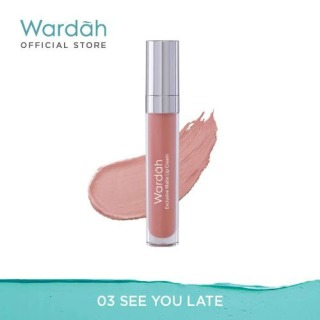 Wardah Exclusive Matte Lip Cream Lipstik Matte - 03 See You Latte thumbnail
