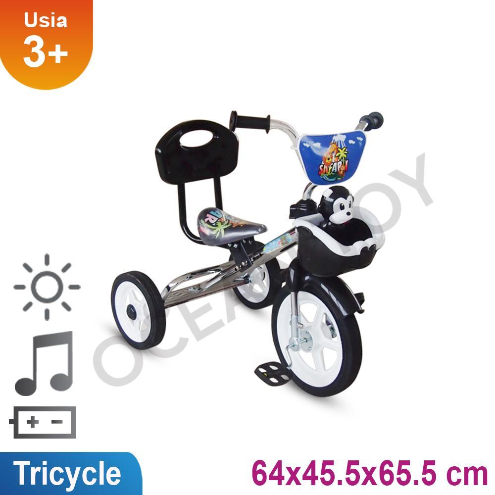 Mainan Anak Sepeda Roda Tiga Ada Musik Dan Keranjang Bmx919s By Ocean Toy.