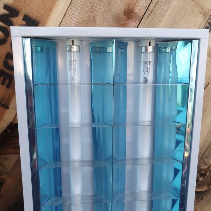 (Bayar di Tempat) KAP LAMPU NEON RM 2x36 2 x 36 WATT PANJANG 120CM BALLAST ELEKTRONIK Murah