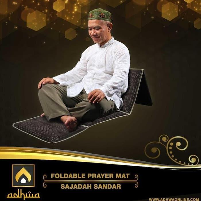 PROMO / BEST SELLER  Sajadah sandar Al-Zahir (Electrik Blue)